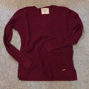 A&F v-neck sweater sz small